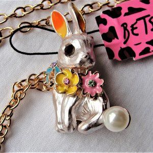FREE w Purchase Betsey Johnson Rabbit Pendant Pin